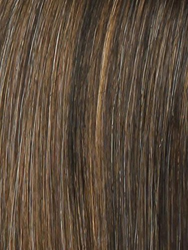 Voltage Avg Cap Wig Color R829S+ GLAZED HAZELNUT - Raquel Welch Wigs Short Textured Layers Wispy Bangs Synthetic Women's Memory Capless Flared Neckline