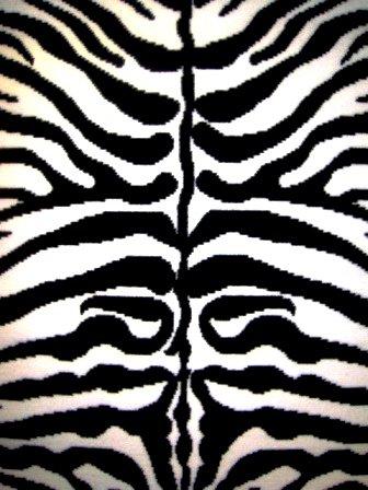 Zebra Print Rug Contemporary Area Rugs 5x8 Zebra Rugs Large 5x7 Zebra Rugs for Living Room Animal Print Rugs (Medium 5'x8') - Zebra 5x8 Area