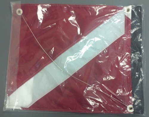 Marine Sport 4678 Deluxe 20 by 24-Inch Dive Flag with Velcro Attachment