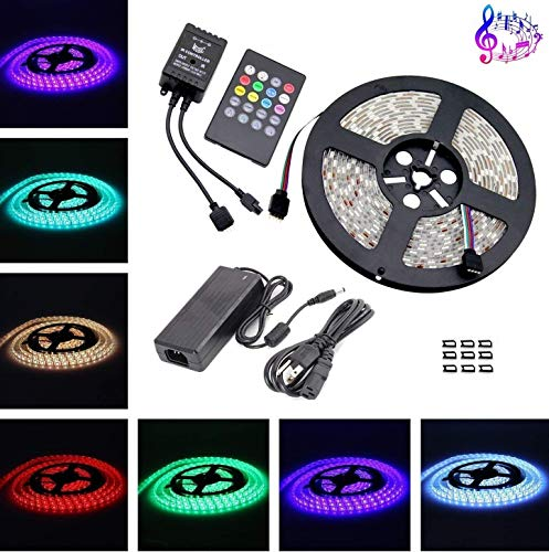 Rgb Led Flexible Strip Lighting Kit With Effects in US - 7