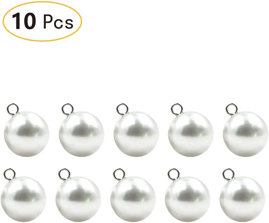 Sold Per 10 buttons Clear Ball Buttons Shank on Back 10mm