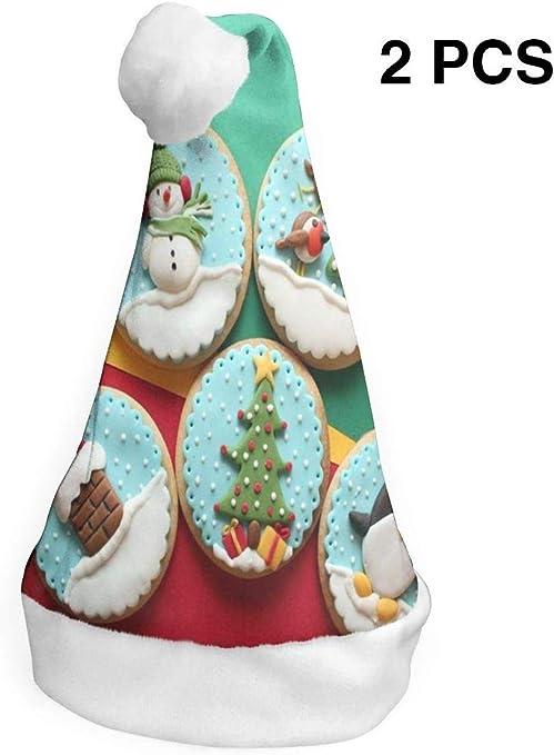Aeykis Sombreros de Navidad Paquete de 2 Decorado Galletas de ...