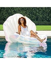 Inflatable Seashell Swimming Pool Inflatable Floating Ball Giant Swimming Pool Floating Bed Mattress Beach Swimming Pool Seashore Shell Shaped Water Sofa Floating Air Cushion Beach Swimming Pool…