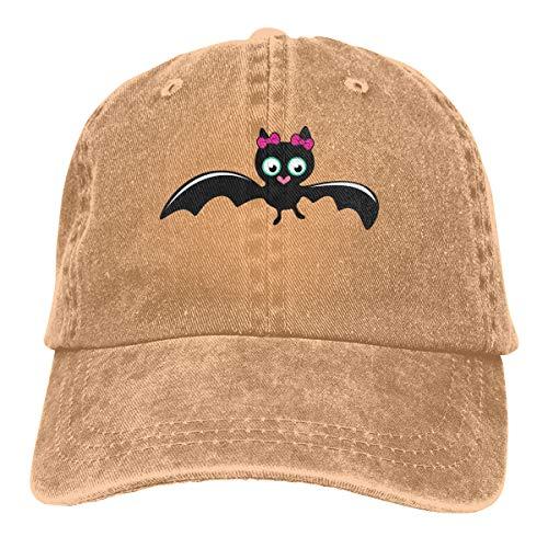 ASDGEGASFAS Baseball Cap Cute Bat Girl Halloween Cotton Adjustable Peaked Dyed Cap Washed Cowboy Hat]()