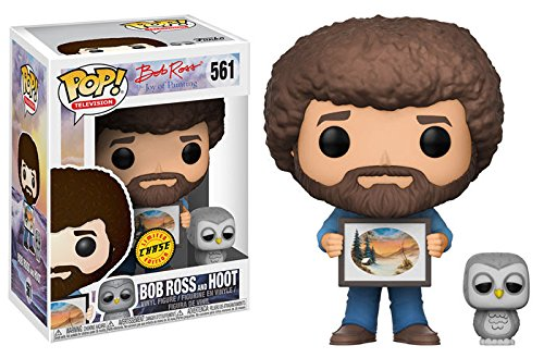 Funko Pop Tv Bob Ross S2   Bob Ross And Hoot  Baby Owl  Vinyl Figure Chase Limited Edition