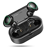 True Wireless Earbuds, LATOW Bluetooth 5.0 Headphones True Wireless Stereo 3D Sound 18H Playtime Sweatproove Earphones with Charging Case, Built-in Microphone