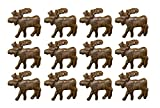 Zeckos Cast Iron Drawer Pulls Rustic Brown 12 Piece Cast Iron Moose Drawer Pull Set 2 X 1.75 X 2 Inches Brown Review