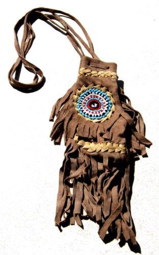 Replica Fair Medicine Trade Bag American Beaded Beige Pouch Light Native Drawstring 5UqRrwxUT
