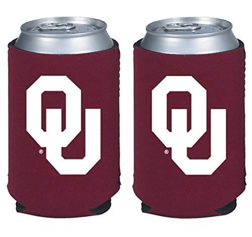 Cooler Tailgate Oklahoma (NCAA College 2014 Team Logo Color Can Kaddy Holder Cooler 2-Pack (Oklahoma Sooners))