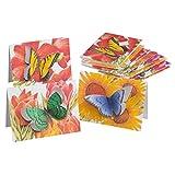 Butterfly Die Cut Note Card Set/12