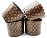 8 oz Panettone Paper Mold | 25 Pack | Brown Round