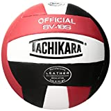 Image of Tachikara SV18S Composite Leather Volleyball, Red/White/Black