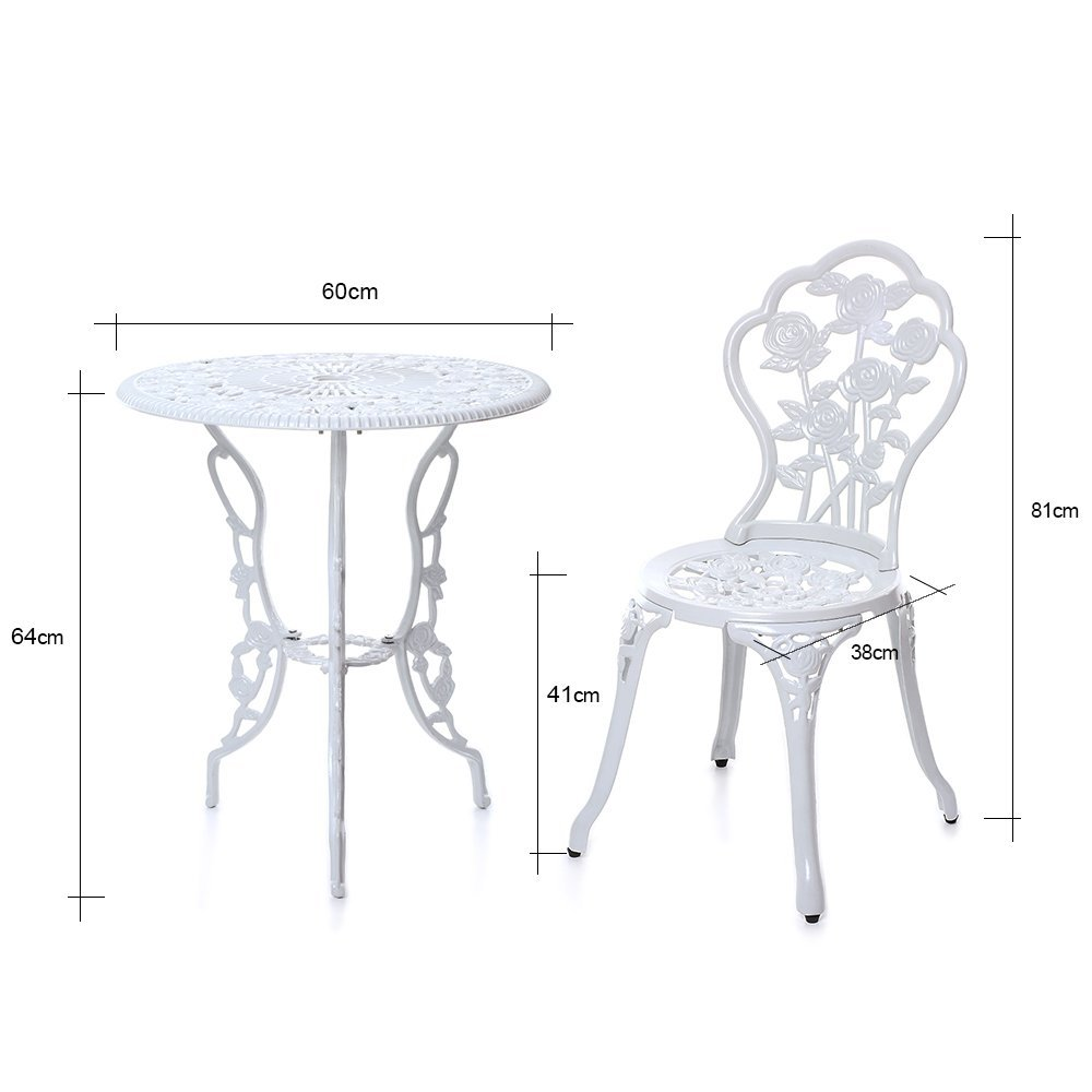 IKAYAA 3PCS Garden Bistro Set Patio Bistro Set Outdoor Furniture