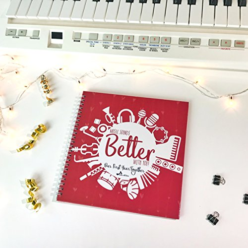 Made With Tone, The Music Sounds Better With You: Our First Year Together! First Anniversary Gift, Wedding Ideas Gifts! 24 Pages of 8X8 inches!