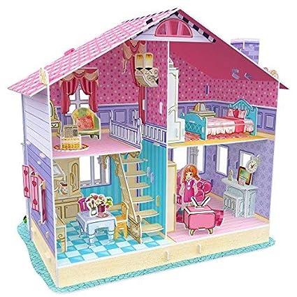 Amazon Com Cubicfun Miniature Dollhouse Kits With Furniture Kids