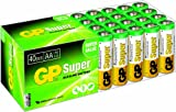 GP Batteries Lr06 1.5 V Super Alkaline Multipacks Mignon Aa Battery (Pack Of 40) Multicolour