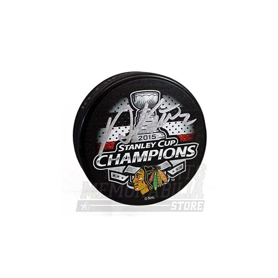 Duncan Keith Chicago Blackhawks Signed Autographed 2015 Stanley Cup Champs Puck