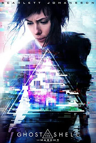 Amazon Com Ghost In The Shell 2017 Authentic Original Movie Poster Dbl Sided 27x40 Scarlett Johansson Michael Pitt Juliette Binoche Pilou Asbaek Everything Else