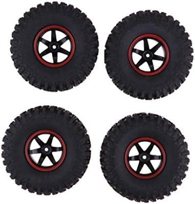 Hellery 4本 RCカータイヤ ホイールリム 1/10 D90 SCX10 CC01 RC カー用 RCカーパーツ