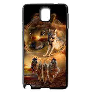 C-QUE Customized Print Wolf Dream Catcher Hard Skin Case Compatible For Samsung Galaxy Note 3 N9000