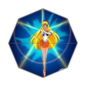 Pefect as Gift Umbrella New 2014 Cartoon Sailor Moon Beautiful Girls Printed 43.5 inch Wide Foldable Umbrella Anti Rain Durable Umbrella