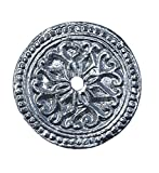 metal door knob plate - Chrome Solid Metal Round Decorative Medallion Back Plate for any Drawer or Door Knob or Pull