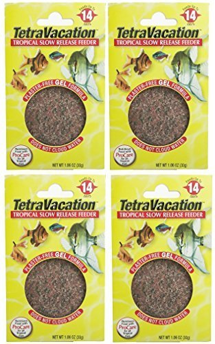 Tetravacation 14-Day Feeder For Tropical Fish. 4 Pack (4.24 oz total). by Tetra