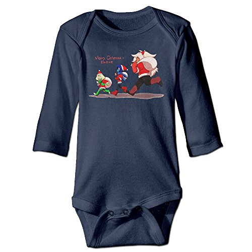 Steven Universe CHRISTMAS Lovely For Climbing Clothes Infant Rompers Navy