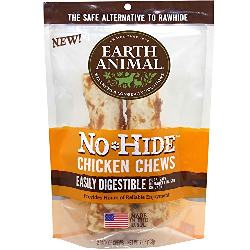 Earth Animal No-Hide Chicken Chews Large 7oz, 2-Pack