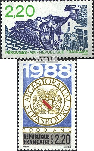 France 2686,2688 (Complete.Issue.) 1988 Tourism, Strasbourg (Stamps for Collectors)
