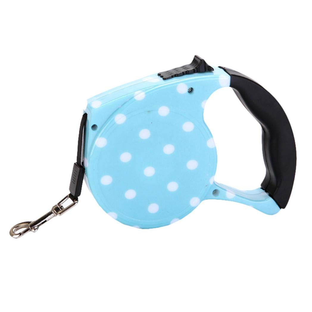 everd1487HH Fashion 5m Retractable Dog Lead Leash Traction Rope Chain Pet Harness Collar 5