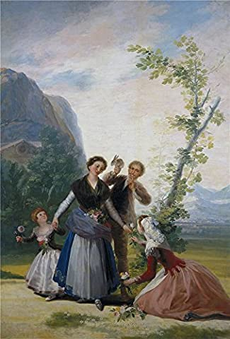Perfect Effect Canvas ,the Vivid Art Decorative Canvas Prints Of Oil Painting 'Goya Y Lucientes Francisco De The Flower Girls Or Spring 1786 87 ', 30 X 44 Inch / 76 X 112 Cm Is Best For Kids Room Gallery Art And Home Gallery Art And - Alfred Gockel Flowers