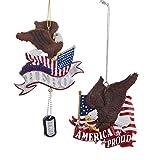 Kurt Adler ''america Proud'' And ''american Hero'' With Eagle Ornament