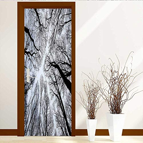 VROSELV Static Cling Glass Film Abstract Tree Branch Silhouette Halloween Concept Privacy Window Film Decorative Window Film W17.1 x H78.7