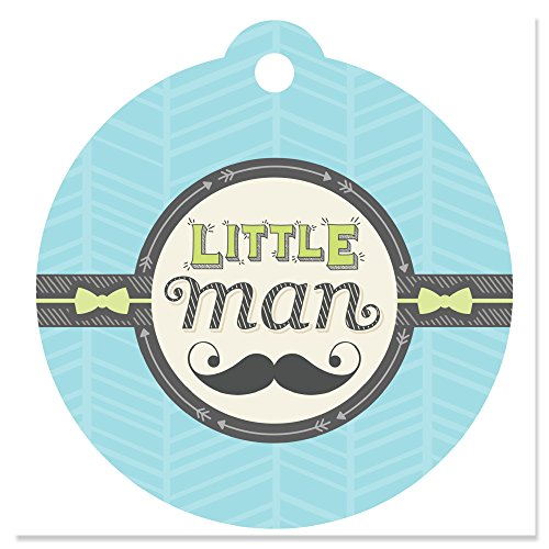Dashing Little Man Mustache Party - Baby Shower or Birthday Party Favor Gift Tags (Set of 20) ()