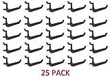 25 Pack Of JUMBO Pegboard Hooks Black Garage Tools Hammer Air Tool Storage Organization Jewelry