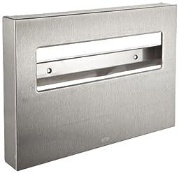 Bobrick 221 Stainless Steel Toilet Seat Cover Dispenser, 15 3/4 x 2 x 11, Satin Finish