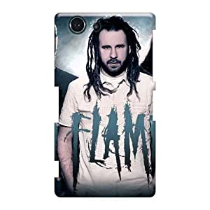 Anti-Scratch Cell-phone Hard Covers For Sony Xperia Z3 Mini (Kow671apLh) Customized Lifelike In Flames Band Pattern