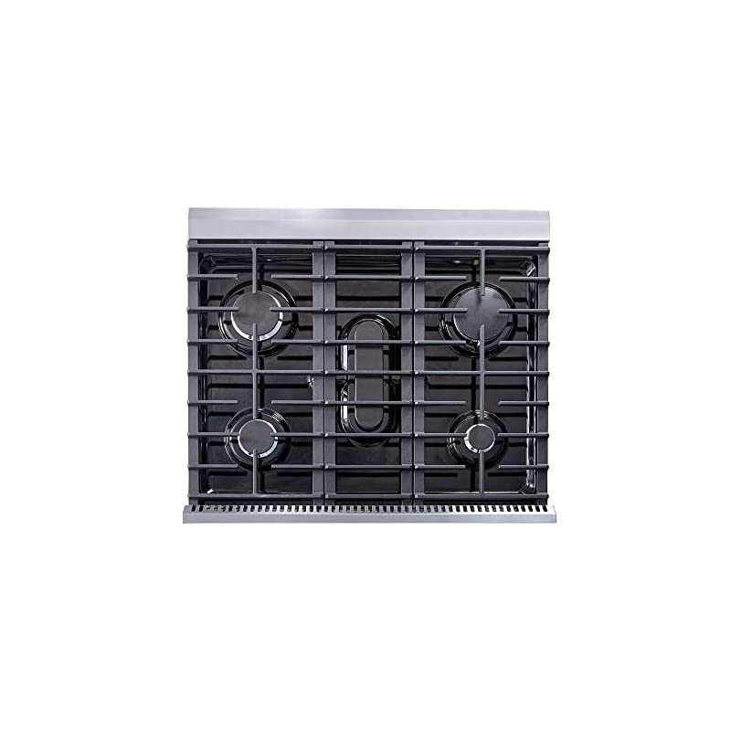 "Thor Kitchen 30"" Stainless Steel Gas Range Oven with 5 Burner LRG3001U"