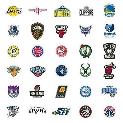 40 NBA Stickers Basketball Team Logo Set. All 30 Teams. Plus 10 More. Die Cut. Lakers Bulls Heat Warriors Celtics Cavaliers Thunder Spurs Knicks Mavericks Clippers Rockets Pacers Nets Magic Pelicans: Toys & Games