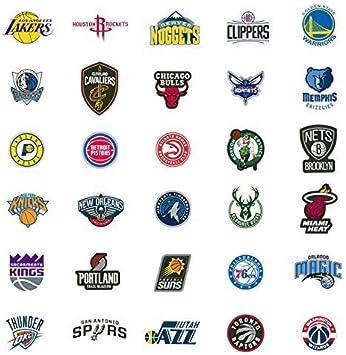 Amazon Com Aag Mix Of 10 Nba Basketball Team Die Cut Logo