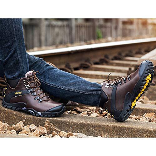 Viaje Brown Al Caminar Cálido Deslizadizo De Invierno Entrenamiento Libre Hombre Zapatos Aire Para Alpinismo Botas HPqHwaF