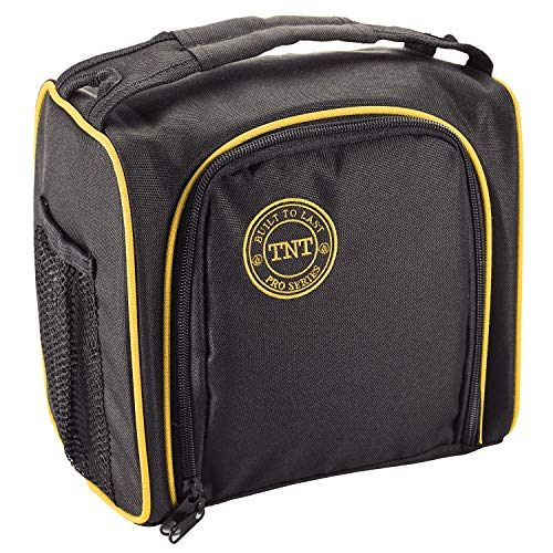 Insulated Lunch Bag - TNT Pro Series - Insulated Lunch Box with Zipper Closure and 2 Exterior Mesh Pockets - Heavy Duty Portion Control Meal Prep Carrier for Adult Men and Women ()