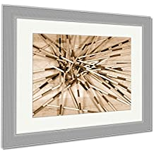 Ashley Framed Prints Detail Of Wooden Sticks Of The Game Of Mikado Or Shanghai On A Wooden Table, Wall Art Home Decoration, Sepia, 30x35 (frame size), Silver Frame, AG5897836