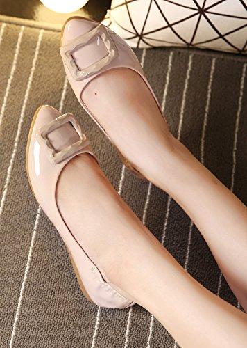 Scarpe Piatte Slip-on Con Tacco Elasticizzato Donna Dqq Nude