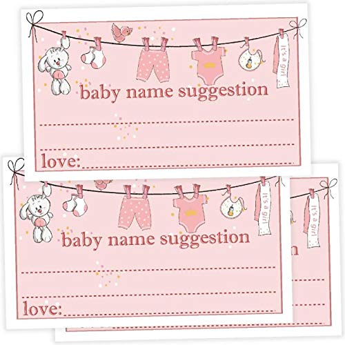 50 Baby Name Suggestions Cards for girls, Printable Green Foliage Baby Name Game, Baby Shower Activity Advice Card, Greenery Shower Decoration, Baby Name Suggestions, Simple Baby Shower Games.]()