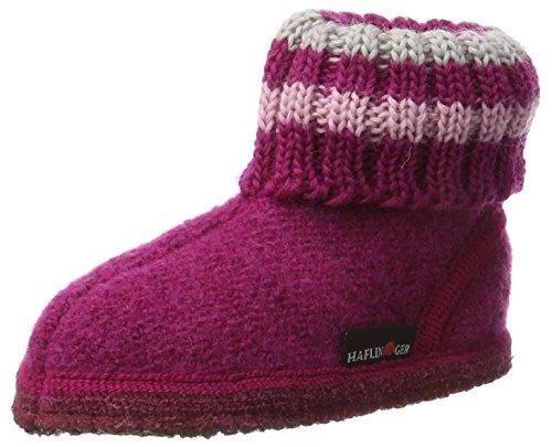 Haflinger Hüttenschuh Paul - Zapatillas de casa Unisex Niños Pink (Kardinal)