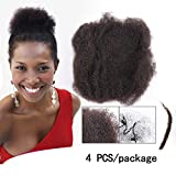 Yonna Hair 4pcs/lot tight Afro Kinky Bulk Hair 100% Human Hair For DreadLocks,Twist Braids Nautral Color Hair,16