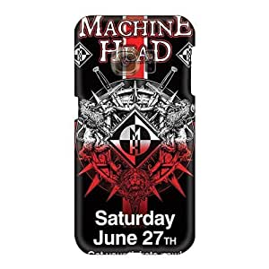 Perfect Hard Phone Covers For Samsung Galaxy S6 With Allow Personal Design Beautiful Machine Head Band Image KennethKaczmarek