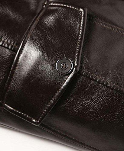 Chaud Épais Jiinn Homme Veste Faux marron Qualite White Fr126 Leather Hiver Mouton Blousons Mens Haute Manteaux Coat Cuir Peau rdE0F0qxw